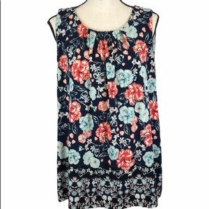 Charter Club Sleeveless Floral Top